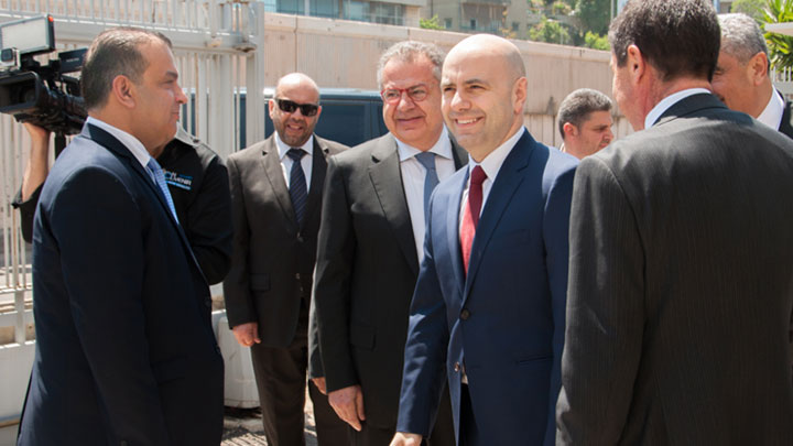 The Minister of Public Health Mr. Ghassan Hasbani visits Algorithm